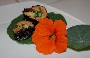 Rohkost Sushi mit Trester