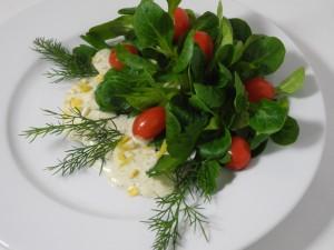 Rohkost Salat Rotkäppchen mit Zitronendressing