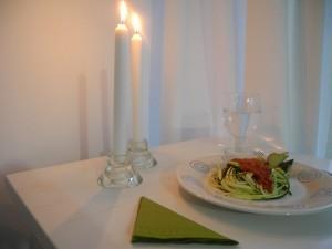 Rohkost Zucchini-Spaghetti