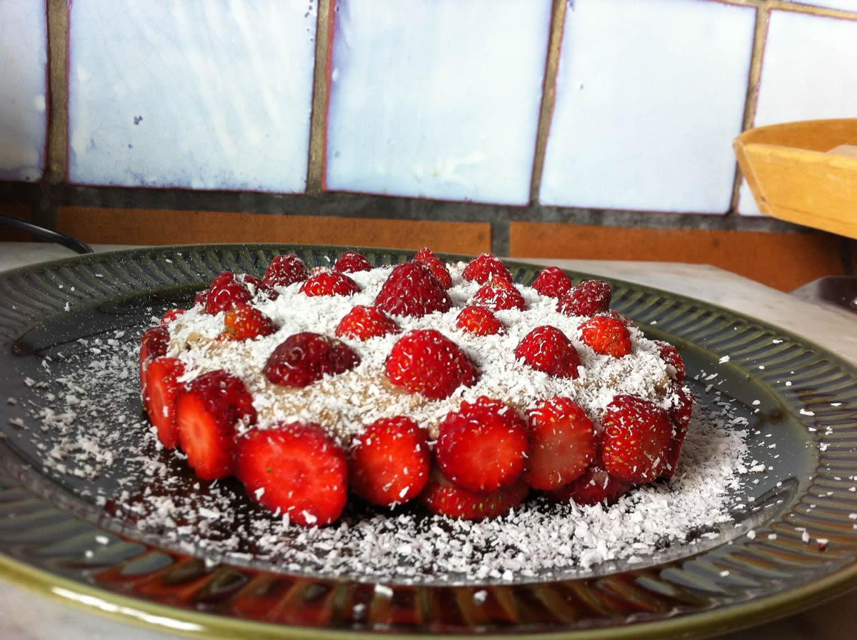 Rohkost Erdbeer-Torte